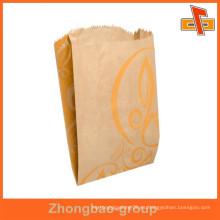 Guangzhou fábrica de material laminado aséptico bolsa de papel de comida rápida de encargo con la impresión