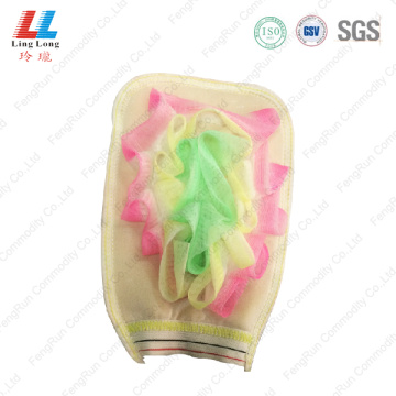 Soft cleaning massaging gloves sponge pad