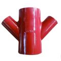Instalación de tubería de hierro fundido gris doble Y