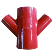 Gray Cast Iron Pipe Fitting Double Y