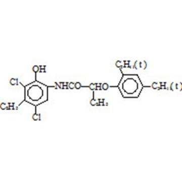 2-[α-(2,4-di-tert-pentylphenoxy)butyramide]-4,6-dichloro-5- ethylphenol CAS 93951-12-3