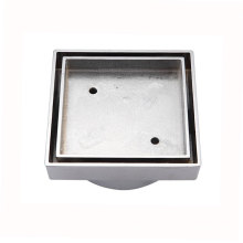Household or Commercial Shower Floor Drain Strainer Bathroom Stainer with a Cotton Bag in a Paper Box Chrome Plated 100*100mm