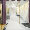 El último vestido de boda de la sirena del cordón de la manera en precio barato al por mayor