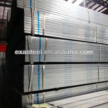 Dimensiones de tubería de acero estructural rectangular galvanizada
