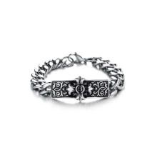 Pulseras de plata barata de moda, pulseras de signo cruzado, pulseras de plata para hombre