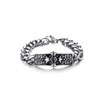 Мода дешевые серебряные браслеты,крест знак браслеты,мужские серебряные браслеты