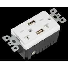 BAS20-2USB CE Approved electrical plug receptacle 125 voltage socket