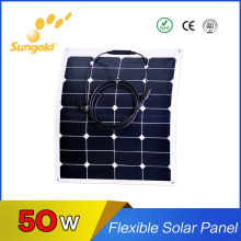 Flhigh Efficiency Sunpower Cell Exible Solar Panel 50W