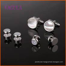 VAGULA Fashion Sea Shell Gemelos Wedding Cufflink Set