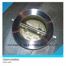 Válvula de retención de doble disco de acero inoxidable de estilo mariposa