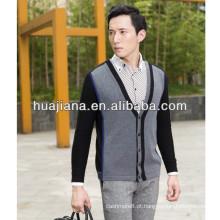 Casaco de confecção de malha de cashmere masculino masculino 2016