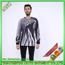 Sublimation Jersey Dry Fit T-Shirts für Motorrad Komposition