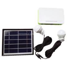 Lâmpada solar solar portátil do mini agregado familiar do sistema de agregado familiar