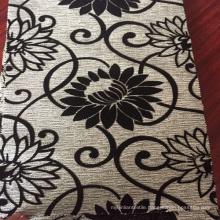 Flower Pattern Flock Design on The Good Quality