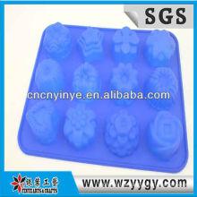 2013 popular coração personalizado em forma de forma de gelo de silicone