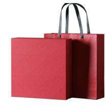 Luxury Red Rigid Cardboard Tea Bags Packaging Box