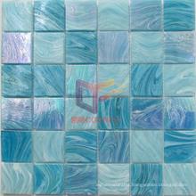 Green Blue Latest New Glass Swimming Pool Mosaic Tiles (CSJ119)