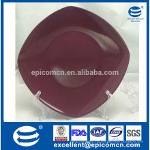 Haltbares Geschirr Emaille Porzellan quadratischen Brot Platte