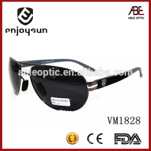 high quality man metal sunglasses with handsome temple