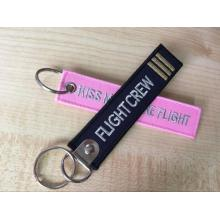 Remove before flight embroidery key ring