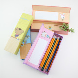 Wholesale free sample customized cardboard pencil box