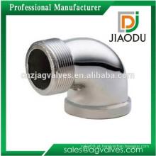 Custom Made chrome banhado Banheiro de alta eficiência branqueado conexões de latão conector 2 (duas) forma cotovelo acessórios de tubulação de 90 graus