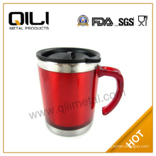 Fashion read stainless steel personalised mugs with handle