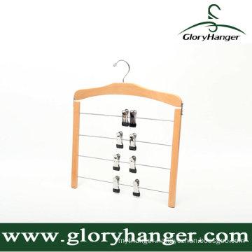 Multifunction Wooden Trousers Hanger for Household