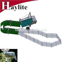 Ferme mobile de moutons de chèvre galvanisée avec panneau, porte et remorque