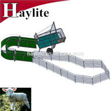Galvanized goat sheep mobile farm with panel,gate, and trailer