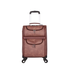 New unique 4 wheels carry-on PU hardside luggage