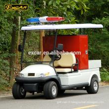 Excar 48V 2 sièges mini camion d'incendie électrique nouveau design camion d'incendie