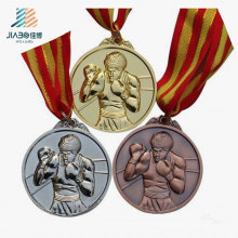 Free Sample Die-Cut 3D Infighter Champion Custom Boxing Medal