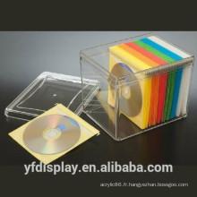 Support d'affichage acrylique clair élevé de CD de vente chaude, support d'affichage de livre