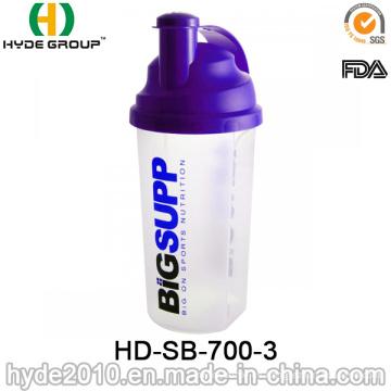 700ml botella de la coctelera de proteína (HD-SB-700-3) modificado para requisitos particulares