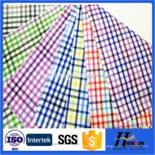 Fios têxteis tingidos 100% tecido de algodão para shirting