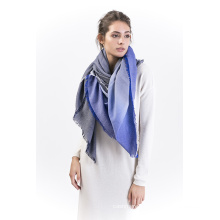 Starrysky-50%Cashmere50%Cotton DIP-Dying Scarf Square Shawl