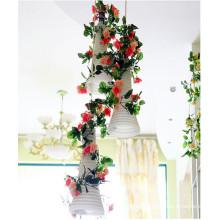 nuevo soporte de flores artificiales de estilo para la decoración de la etapa de la boda