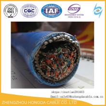 XLPE / SWA / OS / PVC XLPE isolé câble d'alimentation de résistance au feu SWA LSZH
