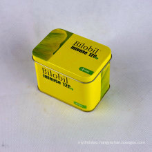 Tin Box with Hinged Lid/Customized Shaped Tin/Tin Box Wholesale