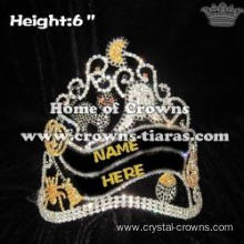 Crystal Spide Pumpkin Halloween Pageant Crowns