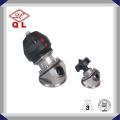 Válvula de diafragma de tres vías tipo U de acero inoxidable