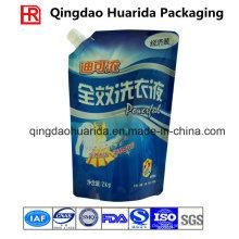 Benutzerdefinierte Waschmittel Bag Sand up Beutel mit Cornner Tülle