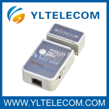 Red multi Modular RJ45 y RJ11 Modular Cable Tester