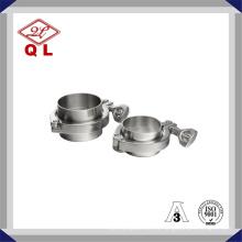 Нержавеющая сталь санитарного Tri Clamp с длинным Ferrule Ss304 Ss316 Сантехнический зажим Союза