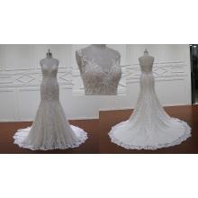 Querida senhora de sereia de renda vestido de noiva