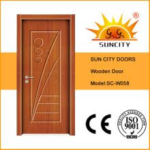 Хорошая поверхностная отделка Цена с покраской деревянной двери (СК-W058)