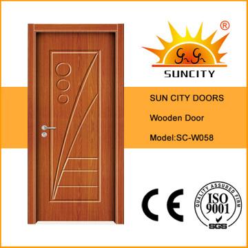 Buen precio Acabado superficial con pintura Puerta de madera (SC-W058)