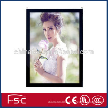 Publicidad led caja de luz de marco de fotos magnético delgado