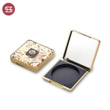 Golden Square Loose Powder Box Empty Loose Powder Case With Mirror